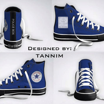 The ORIGINAL Custom Police Box Converse Chucks by Tannim on Etsy