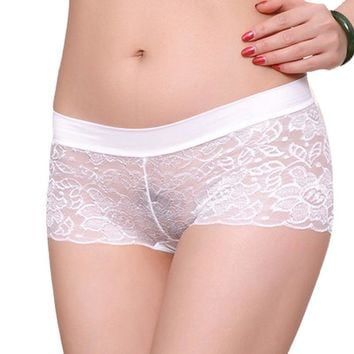 "Petite Women Lace Panties Underwear breathable ""boy shorts"" FREE SHIPPING"