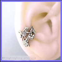 Art Nouveau ear cuff earring jewelry Antiqued by RingRingRing