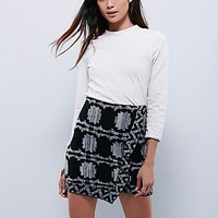 Free People Womens Wrapped in You Blanket Skirt