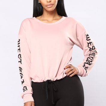 Got It All Sweater - Pink