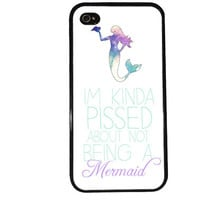 MERMAID iPhone Case /  Funny iPhone 4 Case Quote iPhone 5 Case iPhone 4S Case iPhone 5S Case Cute Quote Aqua Phone Case
