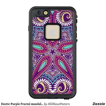 Exotic Purple Fractal mandala starfish ornament LifeProof® FRĒ® iPhone 6/6s Plus Case