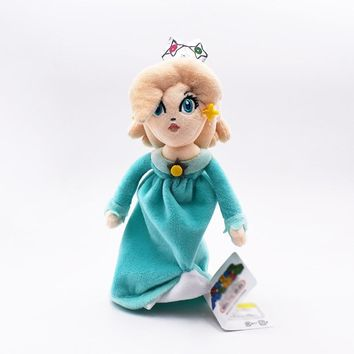 Super Mario party nes switch 22cm  Peluche Blue Princess Peach Rosalina Plush Toy With Tag Soft Dolls Gift For Kids   AT_80_8