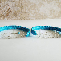 Bestie Best Friend Skinny Cobra Bracelets Bangles (Friendship bracelets)