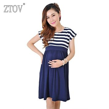 ZTOV Women Long Dresses Maternity Nursing Dress for Pregnant Women