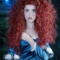 Merida Version A Brave Inspired Costume Wig Adult Screen Quality