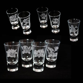 1x Pokemon Shot glass (of your choice)