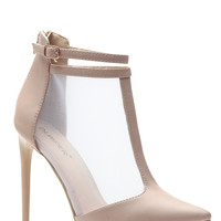 Meshed In Nude Pointed Heels