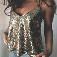 Sequin Cami Shirt  B0015461