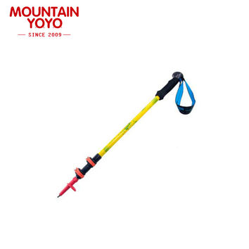 Aircraft Grade Aluminum Folding Outdoor Cane 3-Section Hiking Walking Camping Anti-Shock Collapsible Trekking Pole