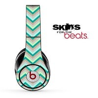 Green Subtle Chevron Pattern Skin for the Beats by Dre Solo, Studio, Wireless, Pro or Mixr