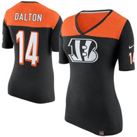 Andy Dalton Cincinnati Bengals Nike Women's Starters Only Name and Number T-Shirt – Black