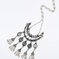 Coin Statement Necklace in Silver - Urban Outfitters