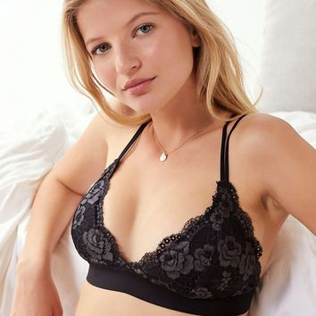 Out From Under Lace Padded Fusion Triangle Bra | Urban Outfitters