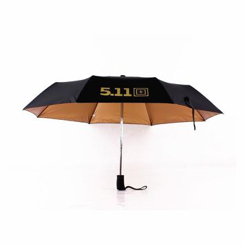 2017  three elephant Men 511 automatic gloden coating umbrella sun and rain umbrella three folding umbrella men and   woman