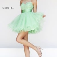 Sheer Lace Dress by Sherri Hill