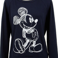 Mickey Mouse Ribbed Knit Graphic Sweater