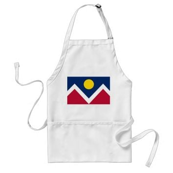 Apron with Flag of Denver, Colorado State, U.S.A.