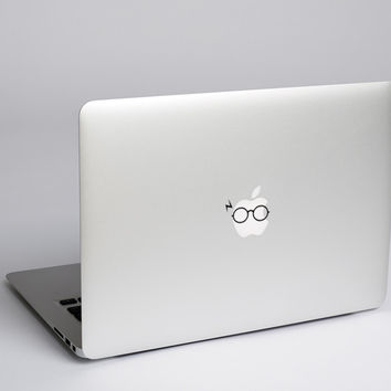 Harry Potter Round Glasses Macbook Stickers