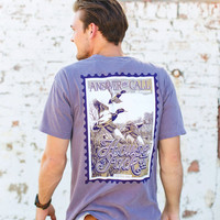 ANSWER THE CALL Duck Hunting Men's T-Shirt - Wine - Comfort Colors Men's T-Shirt -Men's Gift -Mens Tees-Outdoor Sportsman Gifts-Duck Hunting