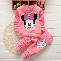 baby girl outfit set / Mickey Mouse design / 6 colors available