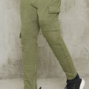 Drawstring Cargo Sweatpants