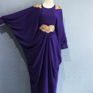 Chiffon Kaftan Maternity Dress Purple Afantee Caftan Maxi Dress with lining Plus Size Soft Limited Edition Kaftan Maxi Dresses