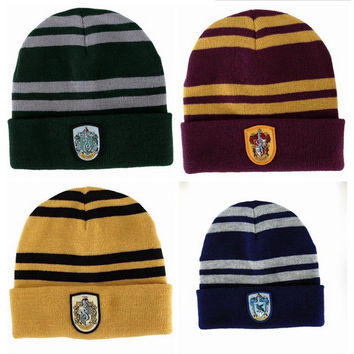 BONJEAN Harry Potter Winter hat Warm Beanies Knit Hats Women Knitted Ski Skullies Men Wool Caps kids Halloween christmas gift