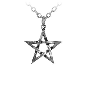 Alchemy Gothic Woven Pentagram Pendant Necklace
