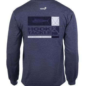 Men's Crossing Hooks L/S UV Fishing T-Shirt