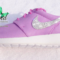 Blinged Fuchsia Glow Girls' / Women's Nike Roshe Run