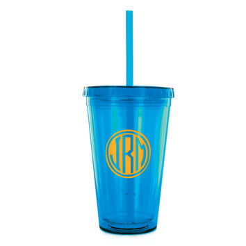Personalized Insulated Tumbler with Straw