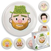New Food Face Kids Dinner Ceramic Plate Fun Play Dish Toy Art Eat Dinner Game !!