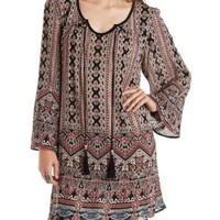 Multi Boho Print Shift Dress by Charlotte Russe