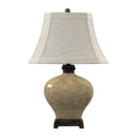 113-1132 Normandie Ceramic Table Lamp in Bronze - Free Shipping!