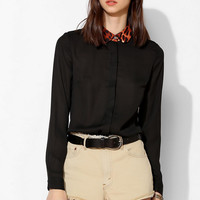 Glamorous Leopard-Collar Button-Down Shirt - Urban Outfitters