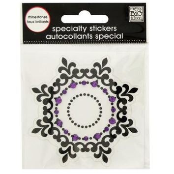 Black Icon Rhinestone Specialty Sticker