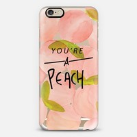 You're A Peach iPhone 6 case by Lauren Davis Designs | Casetify