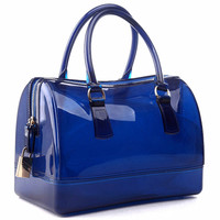Woman bag New 2016 Brand fashion Handbag Silicone jelly bag Boutique tote candy transparent noble feminina bag Casual Clutch Hot