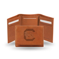 South Carolina Gamecocks Leather Embossed Trifold Wallet