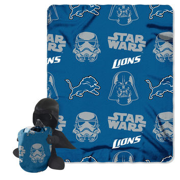 Detroit Lions NFL Star Wars Darth Vader Hugger & Fleece Blanket Throw Set
