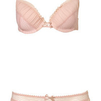 Pink Curly Mesh Push Up Bra and Thong - Lingerie & Nightwear - New In This Week - Topshop