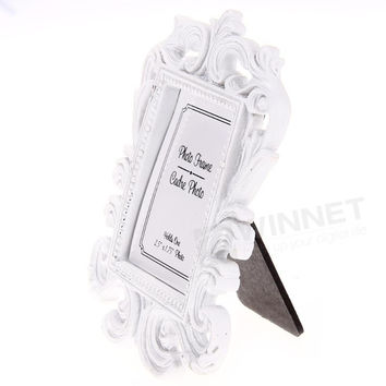 6pcs/pack Place Card Photo Frame Holder Party Wedding Favors White Baroque Style