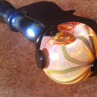 Stunning pink and black large pipe with flower