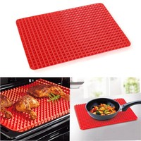 Facemile 38.5*27cm Reusable Non-Stick Silicone Bakeware Pan Kitchen Baking Mats Pads Cooking Mat for Oven Barbecue Mat