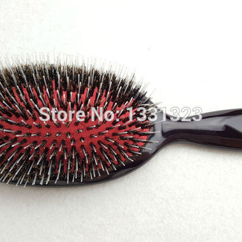Paddle Hair Brush Boar Bristles Mix Nylon Hair Comb Brush Barber Brush Hair Extension Brush 531# (1 Piece) Free Shipping