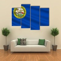 Flag Of Nevada State Multi Panel Canvas Wall Art
