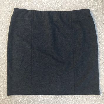 J JILL PONTE Women's Plus Size XL Gray Pencil Skirt New Without Tags
