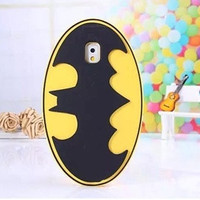 3d Cartoon Batman Logo Soft Silicone Back Case Cover Skin for Apple Iphone 5/5s note 2/3